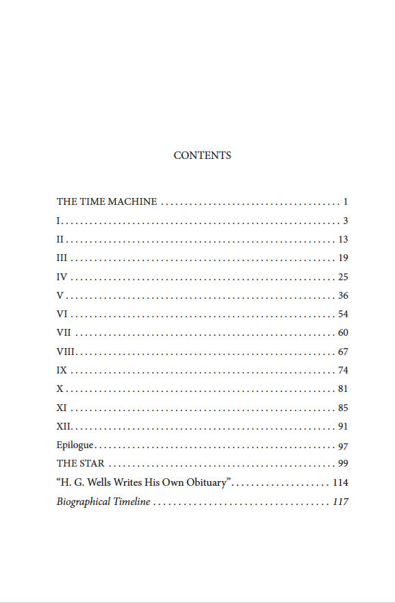 """The Time Machine with """"The Star"""" Contents"""